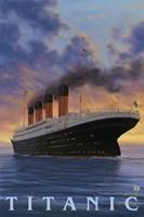 Titanic Yacht Ad Fine Art Print