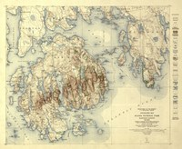 Acadia National Park Map by Lantern Press - various sizes