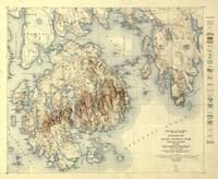 Acadia National Park Map Fine Art Print