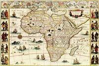 Decorative Africa Map Fine Art Print