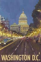 Washington DC Capitol Building Ad Fine Art Print