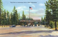 Yellowstone Park West Gate Fine Art Print