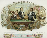 Club Friends Cigars Fine Art Print