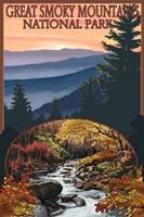 Great Smoky Mountains Fall Park Fine Art Print