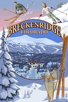 Breckenridge Colorado Ad Fine Art Print