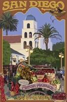 San Diego Fresh Produce Fine Art Print
