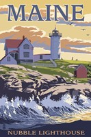 Nubble Lighthouse Ad Fine Art Print