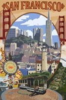 San Francisco Trolley Ad Fine Art Print