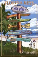 Florida Keys Sign Ad Fine Art Print