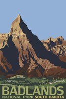 Badlands National Park Ad by Lantern Press - various sizes