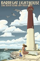 Barnegat Lighthouse New Jersey by Lantern Press - various sizes