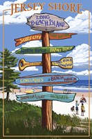 Jersey Shore Beach Signs Fine Art Print