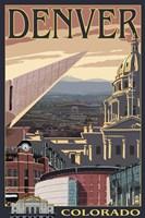 Denver Colorado Ad Fine Art Print