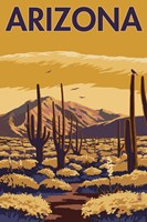 Arizona Cactus Scene Fine Art Print