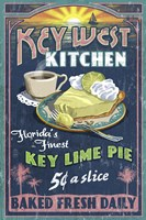 Key West Kitchen Lime Pie Fine Art Print