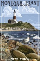 Montauk Point Lighthouse New York by Lantern Press - various sizes - $43.99