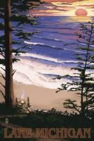 Lake Michigan Beach Ad Fine Art Print
