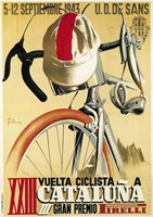 Vuelta Ciclista XXIII Cataluna Bicycle Fine Art Print