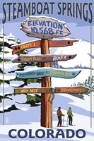 Steamboat Springs Colorado Signs Fine Art Print