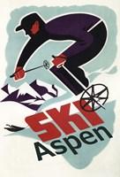 Ski Aspen Ad Fine Art Print