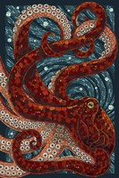 Octopus Mosaic Framed Print