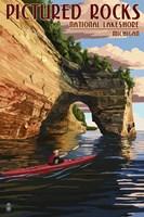 Picture Rocks Lakeshore Michigan Fine Art Print