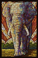 Elephant Mosaic Fine Art Print