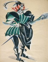 Romeo In A Mask, 1920 Fine Art Print