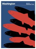 Montague State Posters - Washington Fine Art Print