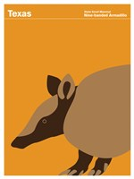 Montague State Posters - Texas by Print Collection - various sizes, FulcrumGallery.com brand
