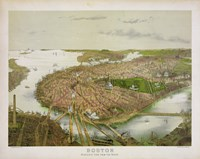 Boston From the Air, 1877 by Print Collection, 1877 - various sizes - $48.49