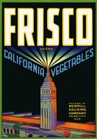 Frisco Brand California Vegetables Fine Art Print