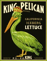 King Pelican Brand Lettuce Fine Art Print
