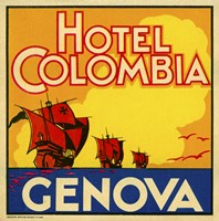 Hotel Colombia, Genova by Print Collection - various sizes, FulcrumGallery.com brand