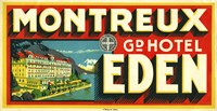 Montreux Grand Hotel, Eden by Print Collection - various sizes, FulcrumGallery.com brand