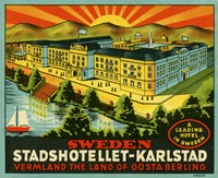 Luggage Stadshotellet-Karlstad by Print Collection - various sizes