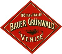 Hotel d'Italie, Bauer- Grunwald, Venise by Print Collection - various sizes