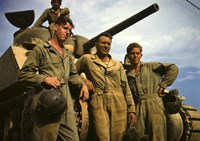 Tank Crew leaning on M-4 tank, Ft. Knox, KY by Print Collection - various sizes