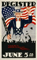 Register June 5th, WWI, 1917 by Print Collection, 1917 - various sizes