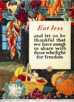 Eat Less, and Let us be Thankful Fine Art Print
