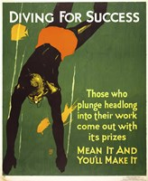 Diving for Success Fine Art Print