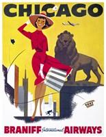 Chicago, Braniff International Airways Fine Art Print