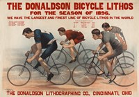 Donaldson Bicycle Lithos for 1896 Season Fine Art Print