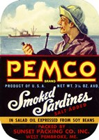 Pemco Brand Smoked Sardines by Print Collection - various sizes, FulcrumGallery.com brand
