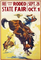 Rodeo State Fair Roan Fine Art Print