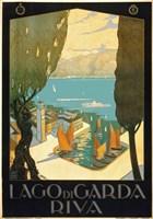 Wharf on Lake Garda Italy Fine Art Print