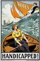Women's Suffrage, Handicapped, London! Fine Art Print