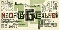 25 PF Notgeld, Itzehoe, Back by Print Collection - various sizes - $37.49