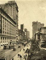 42nd Street East from 6th Avenue by Print Collection - various sizes