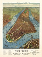 Aerial Map for Root & Tinker of New York by Print Collection - various sizes